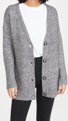 ATM Anthony Thomas Melillo Cotton Blend Cardigan Sweater