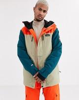 Planks Good Times Insulated ski jacket in multi-Orange