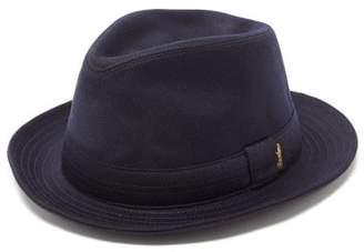Borsalino Cashmere-felt Fedora Hat - Mens - Blue