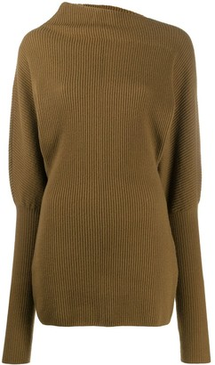 Low Classic High Neck Ribbed Jumper