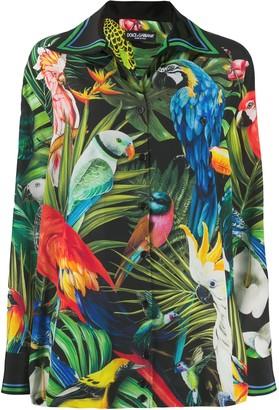 Dolce & Gabbana Parrot Jungle-Print Shirt