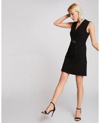 Morgan Sleeveless Fitted Mini Dress with Belt