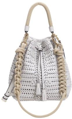 Anya Hindmarch Neeson Drawstring Woven Leather Bucket Bag