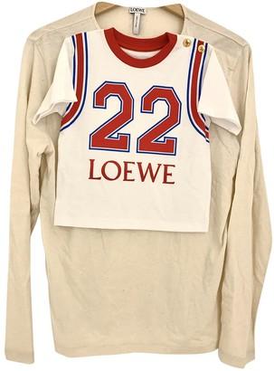 Loewe White Silk Knitwear for Women