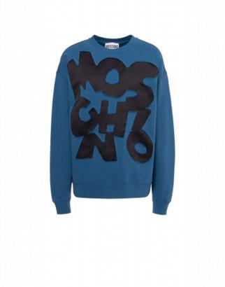 Moschino Cotton Sweatshirt Cut-out Logo