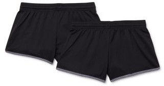 Tec One Girls Flat Back Mesh Running Short 2-Pack, Sizes 7-16