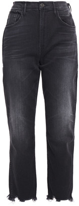 3x1 Cropped Faded High-rise Straight-leg Jeans