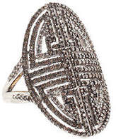 Rarities Sterling Silver Champagne Diamond Cocktail Ring Size 7 New $1620