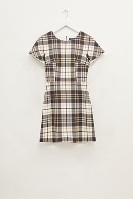 French Connection Plaid Crew Neck Dress