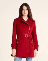 MICHAEL Michael Kors Asymmetrical Belted Coat