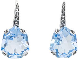 Stephen Dweck Galactical Fantasy Cut Quartz Earrings, Blue
