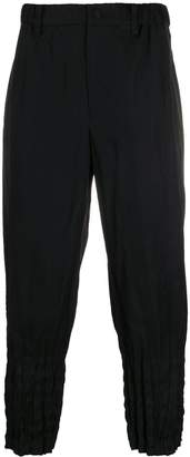 Issey Miyake pleated hem cropped trousers