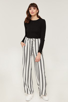 Ardene Super Soft Striped Wide Leg Pants - Clothing |