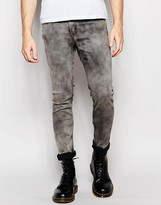 Cheap Monday Jeans Tight Stretch Skinny Fit Night Storm Acid Wash