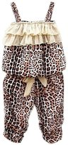 Donalworld Kids Baby Girls Summer Leopard Vest Pants Set Outfit Clothes 2PCS