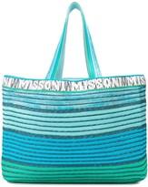 Missoni Mare striped logo tote bag