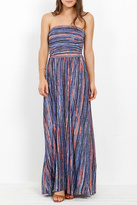 Three Dots Painterly Stripe Maxi