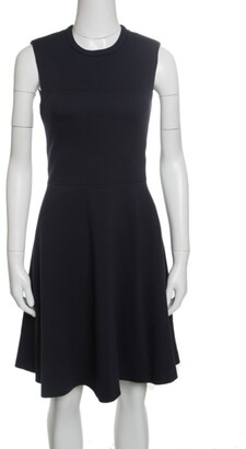 Joseph Navy Blue Wool Jersey Paneled Sleeveless Milano Dora Dress S