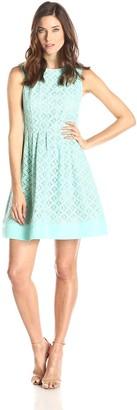 Jessica Howard JessicaHoward Women's Sleeveless Seamed Fit and Flare Dress