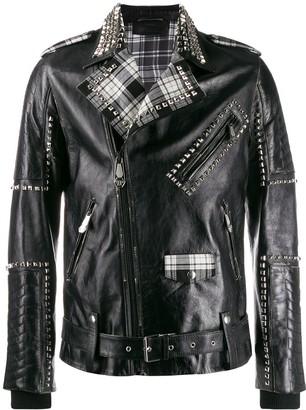 Philipp Plein Studded Biker Jacket