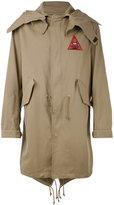 Givenchy Illuminati patch parka jacket - men - Cotton/Polyester/Cupro - 50