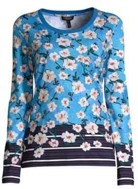 Escada Elumia Floral Long Sleeve Top