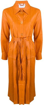 House Of Sunny Faux Leather Trench Coat