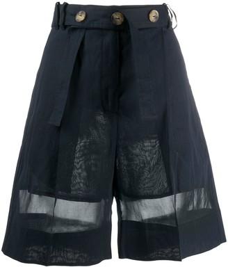 Eudon Choi Harrison high-rise organza shorts
