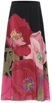 Valentino Floral silk skirt