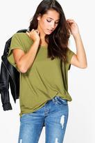 Boohoo Kate Textured Fabric Oversized T-Shirt
