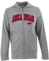 Antigua Men's Arkansas Razorbacks Signature Zip Front Fleece Hoodie