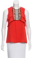 Mayle Sleeveless Silk Top