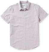 Calvin Klein Yarn-Dye Micro-Check Short-Sleeve Woven Shirt