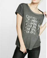 Express one eleven boxy champagne tee