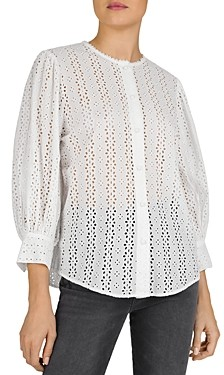 The Kooples Perforated Illusion Blouse
