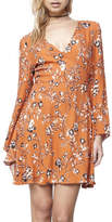 MinkPink Rust Roses Wrap Dress