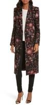 Smythe Women's Floral Jacquard Peaked Lapel Coat