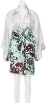 Dries Van Noten Abstract Print Belted Tunic