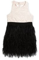 Milly Minis Lace Blaire Feather Dress, Size 4-7