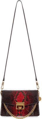 Givenchy GV3 Small Shiny Python Shoulder Bag