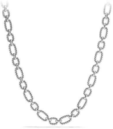"""David Yurman 12.5mm Cushion Link Chain Necklace, 18"""""""