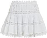 Charo Ruiz Ibiza Greta Lace-Trimmed Mini Skirt