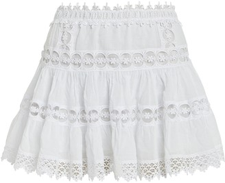 Charo Ruiz Ibiza Greta Lace-Trimmed Mini Skirt