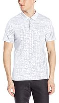 Ben Sherman Men's Patterned Polo Shirt with Chest Pocket