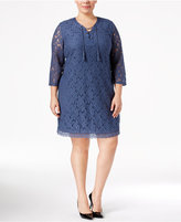 Style&Co. Style & Co. Plus Size Lace Peasant Dress, Only at Macy's