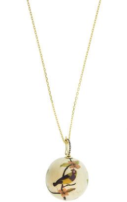 Silvia Furmanovich 18k Diamond Marquetry Bird Ball Necklace
