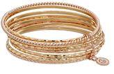 JLO by Jennifer Lopez Two Tone Multi Row Bangle Bracelet