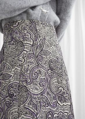 And other stories Paisley Jacquard Mini Skirt