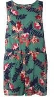 Dorothy Perkins Womens **Juna Rose Curve Green Floral Print Playsuit- Green