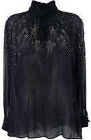 Roberto Cavalli embellished blouses - women - Silk - 40